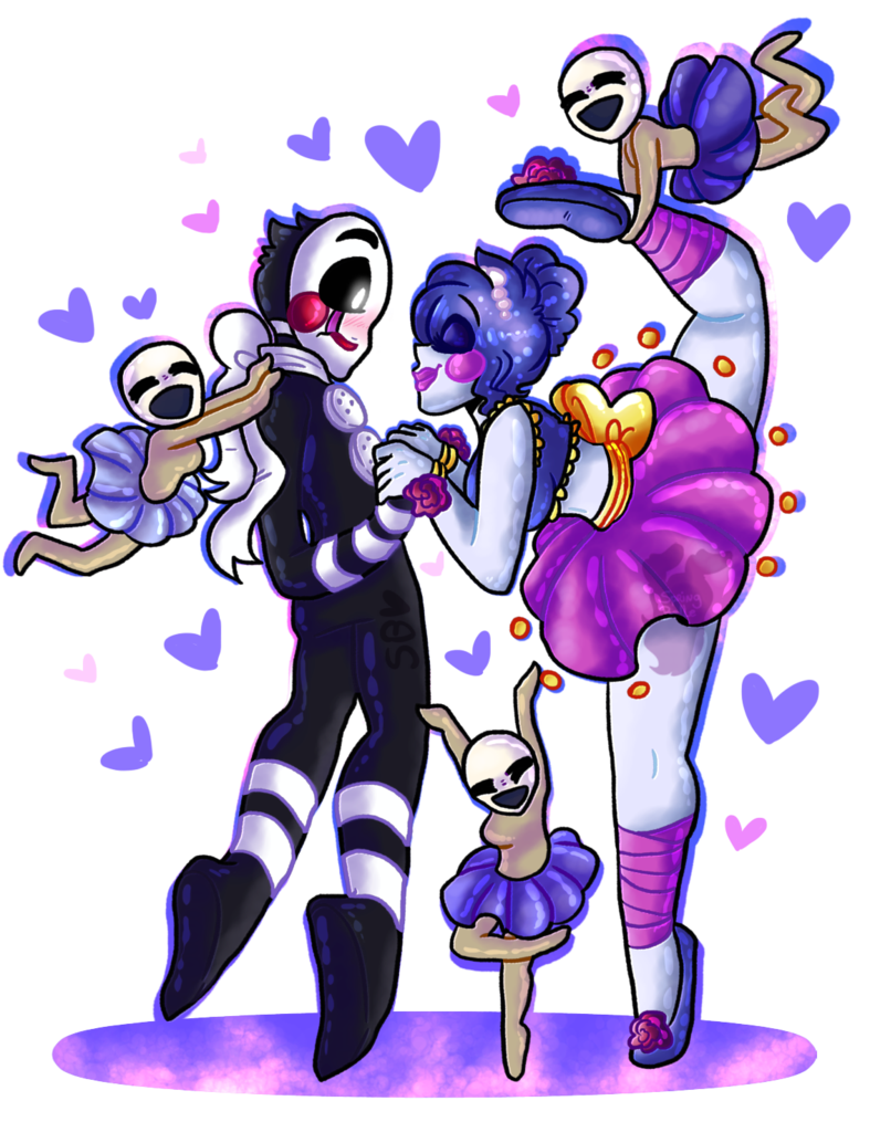 Siblings drawing cute christmas couple. An amazing gift fnaf