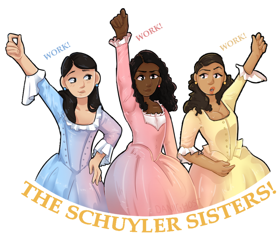 Drawing songs hamilton. Collection of free sisters