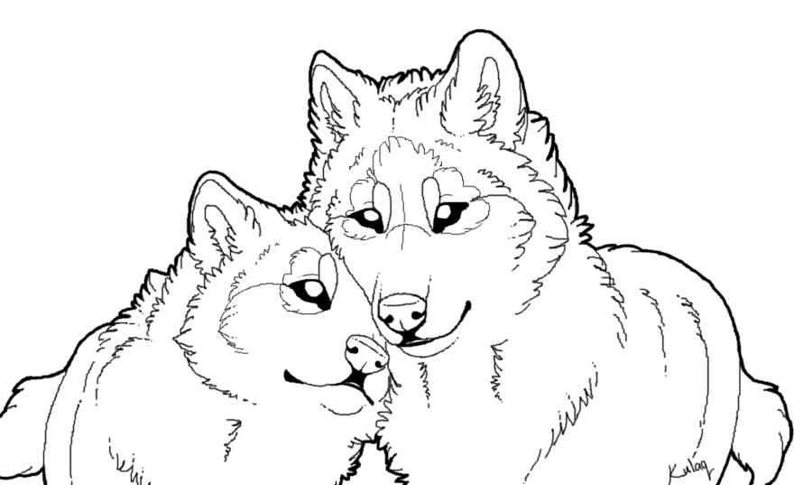 Siblings drawing wolf. Love at getdrawings com