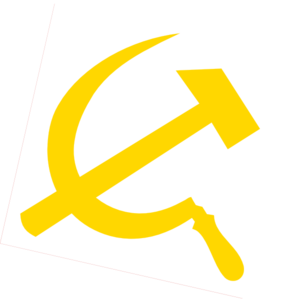 Transparent hammer sickle. And clip art at