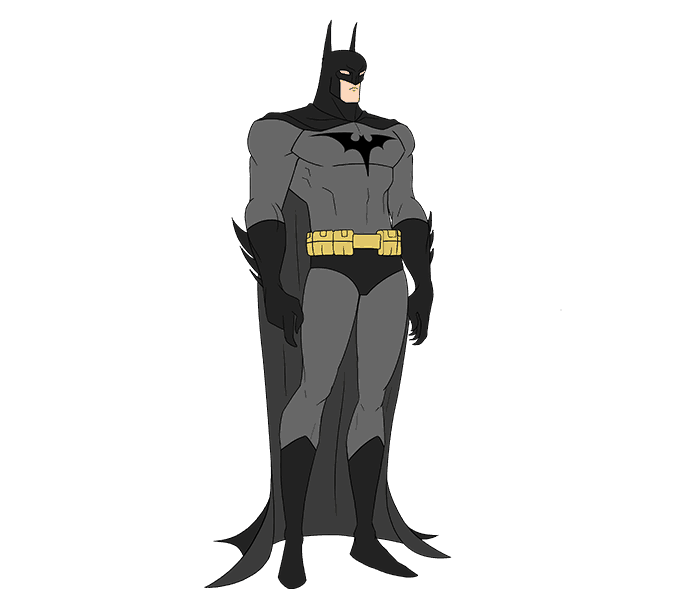 Side drawing batman. How to draw easy