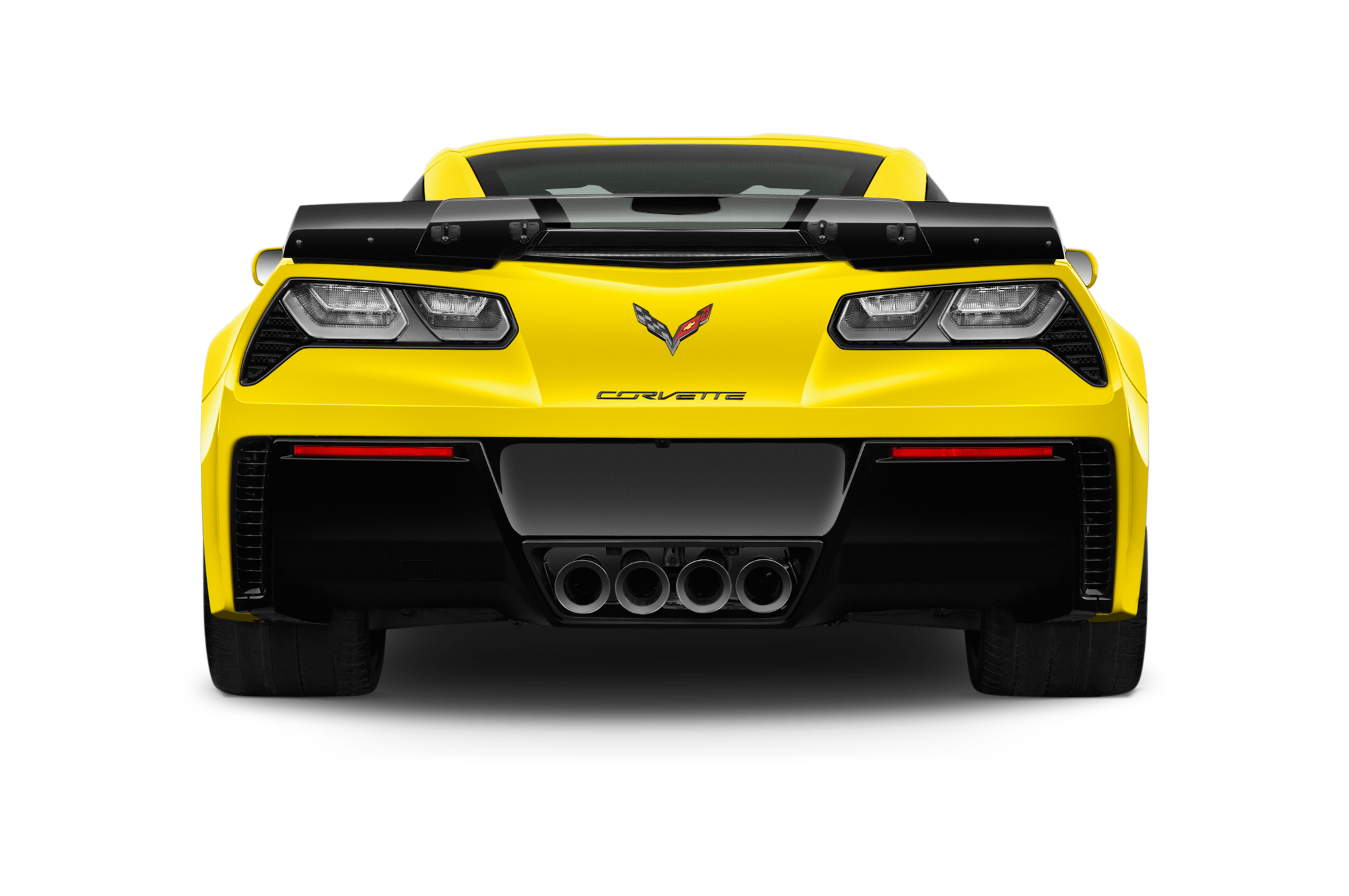 Side drawing corvette. Collection of free corvet