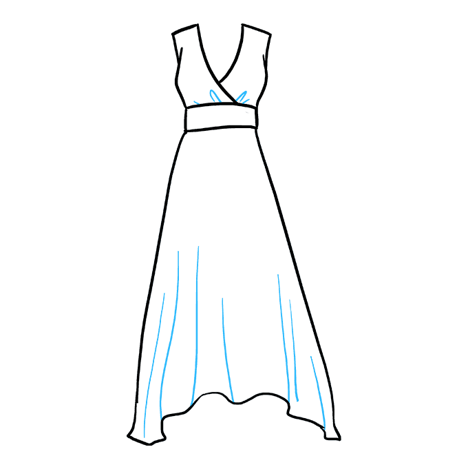 Side drawing dress. How to draw a