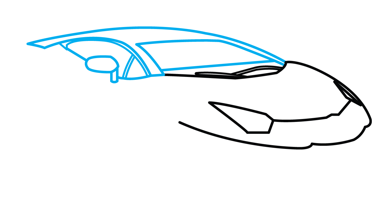 Side drawing easy. How to draw lamborghini