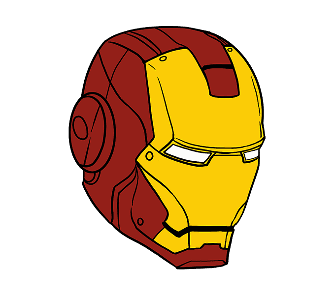 Side drawing iron man. How to draw in