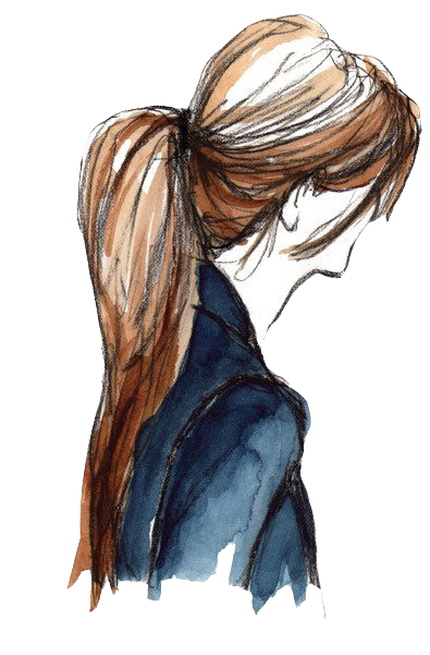 Side drawing long hair. Png tumblr vintage buscar