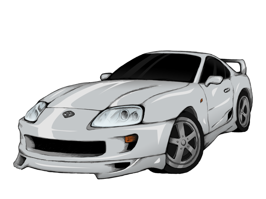Side drawing supra. Toyota png image