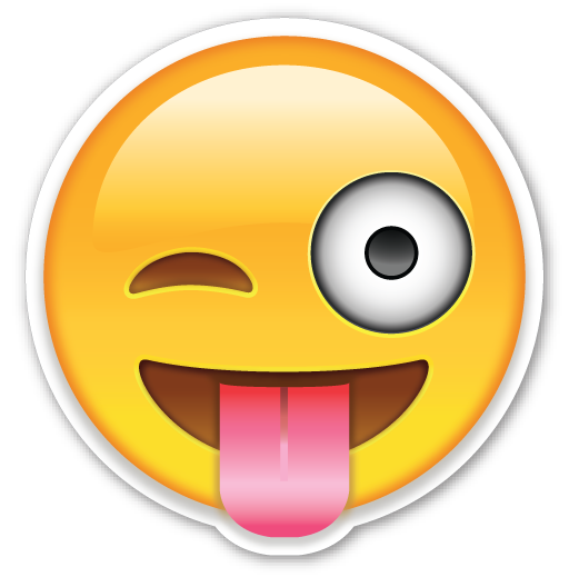 Side tongue out emoji png. Face with stuck and