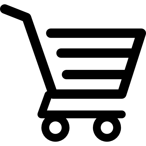 Trolley vector icon. Shopping cart of horizontal