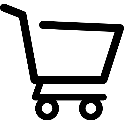 Trolley vector empty. Shopping cart side view