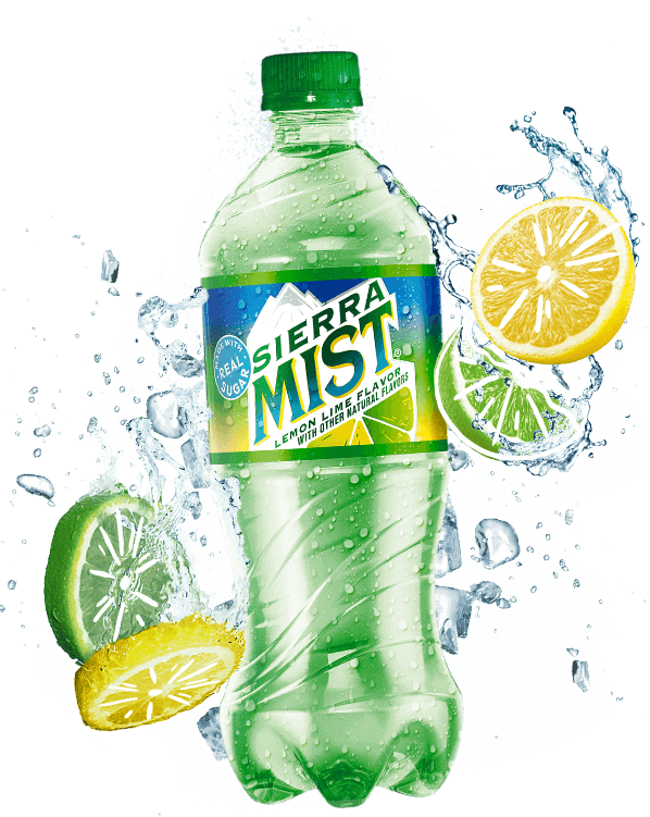 Sierra mist png. Made with real sugar