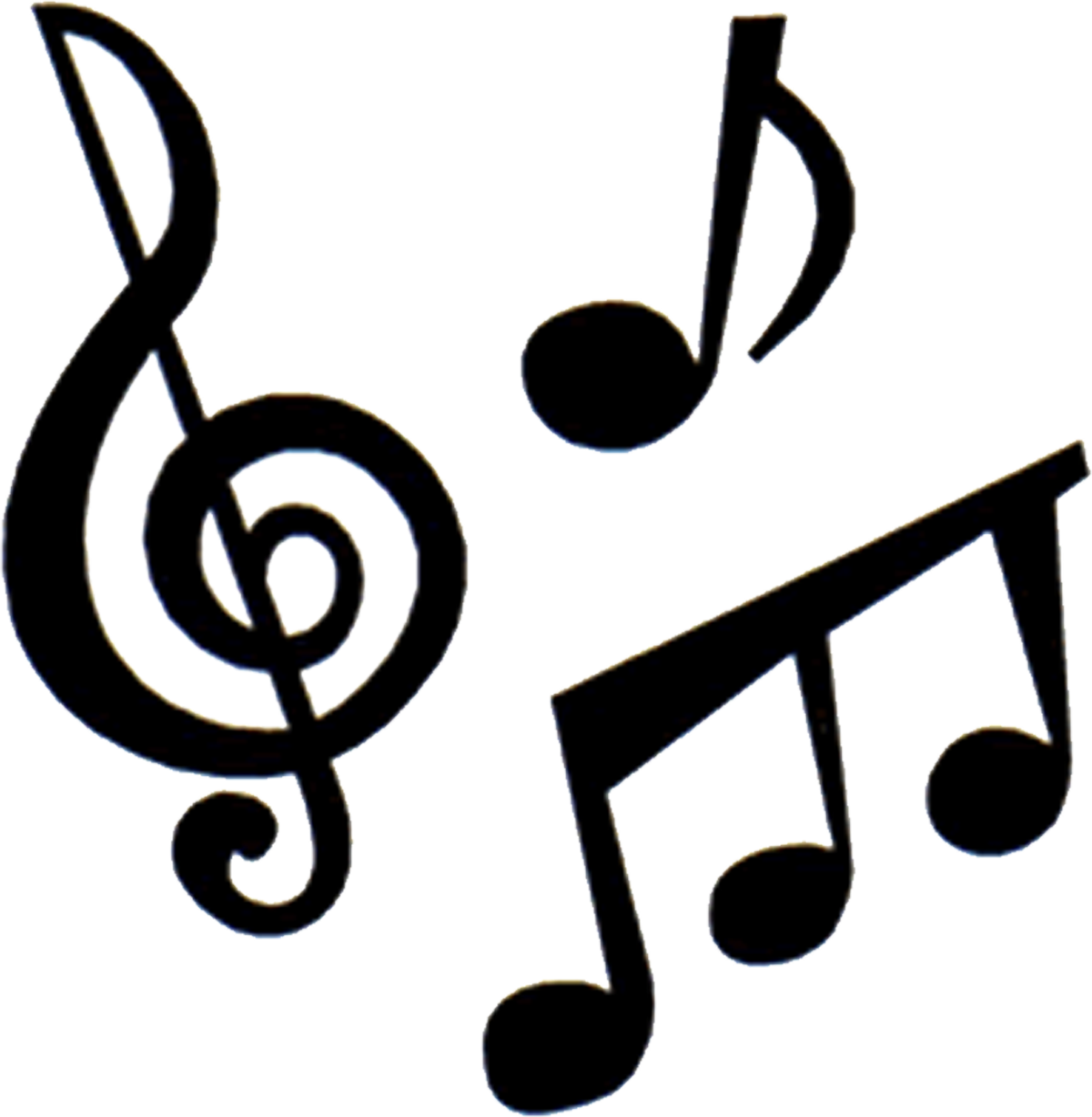 Sign clipart music. Symbol silhouette at getdrawings