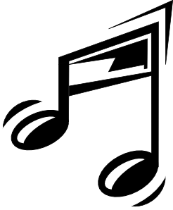 Sign clipart music.