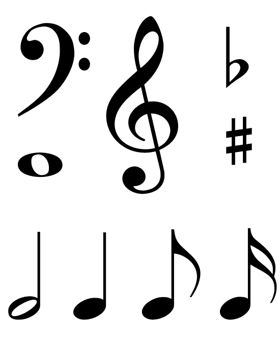 Sign clipart music. Free clip art notes