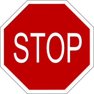 Sign clipart red. Stop clip art at