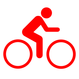 Sign clipart red. Bike clip art at