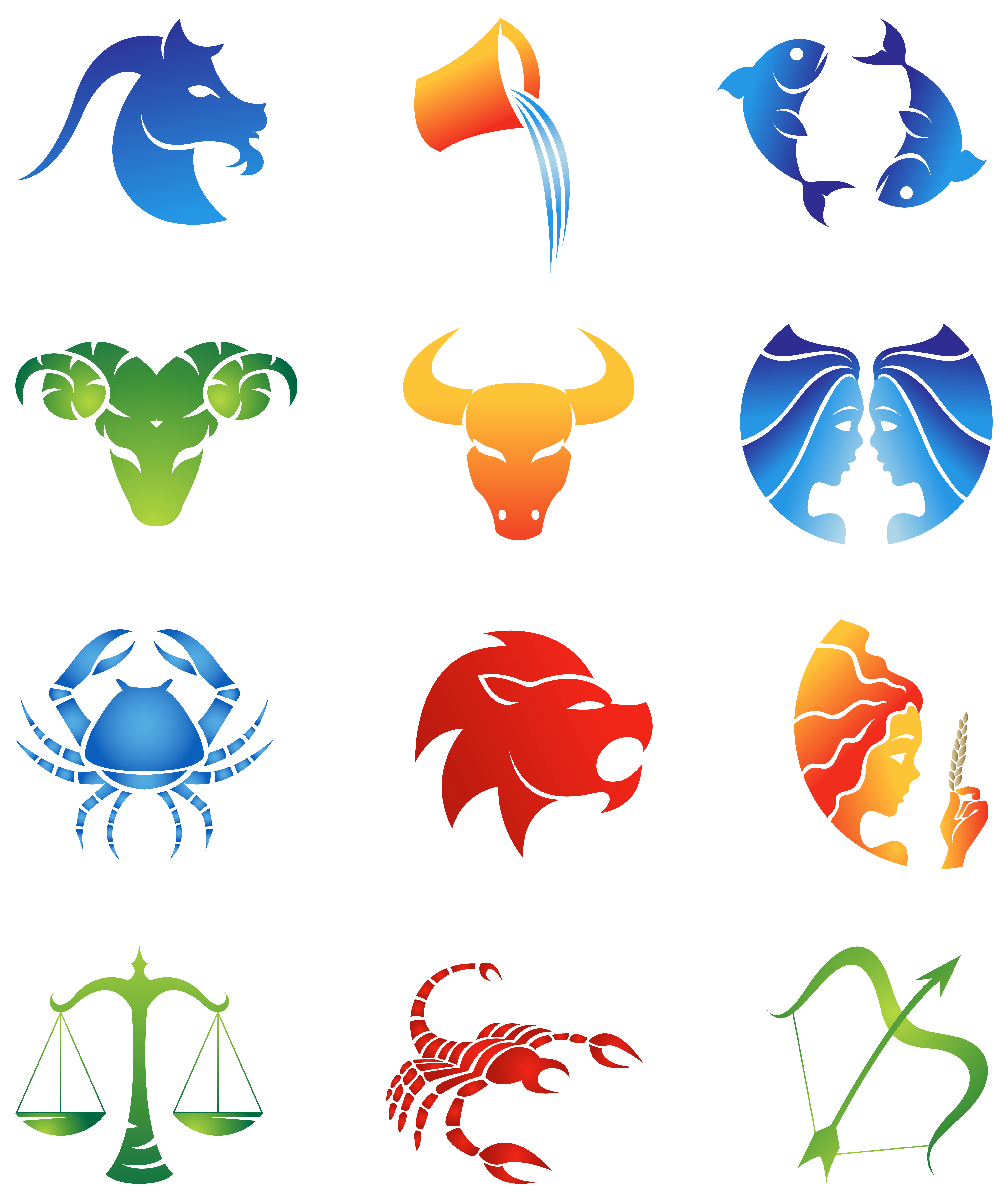 Sign clipart star. Signs clipground colourful zodiac