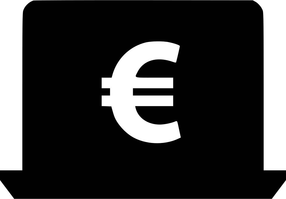 Sign svg electronic. Euro laptop png icon