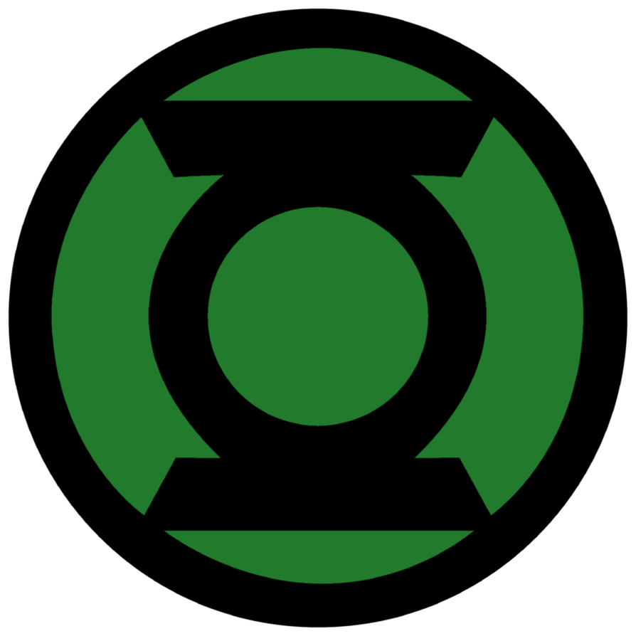 Sign svg green lantern. Corps symbol fill by