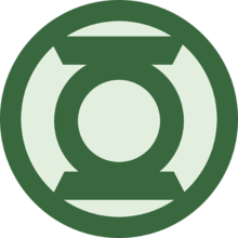 Sign svg green lantern.