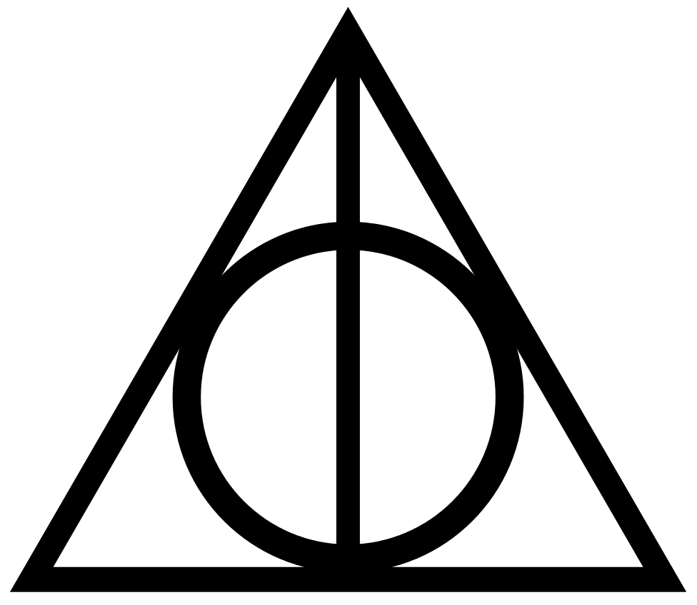 Svg silhouette harry potter. File deathly hallows sign