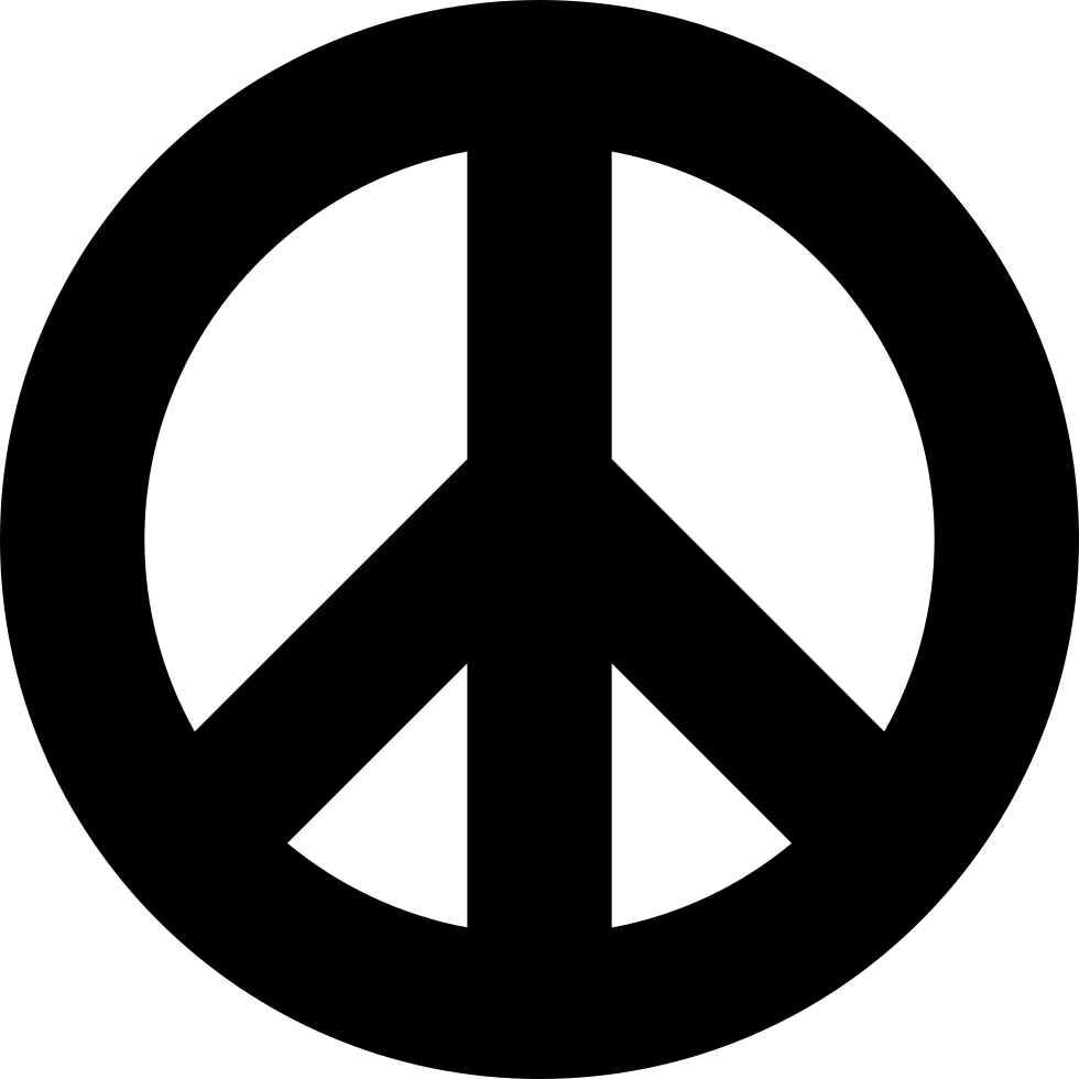 Sign svg peace. Symbol png icon free