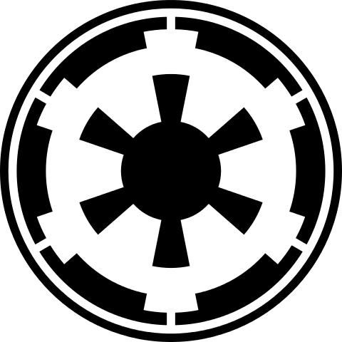Sign svg star wars. Galactic empire emblem files
