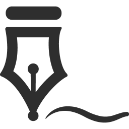 Signature icon png. Download mono business icons