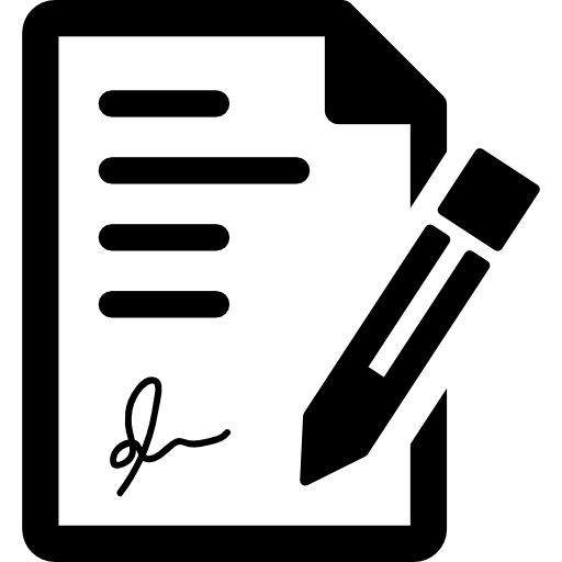 Signature icon png. Page svg