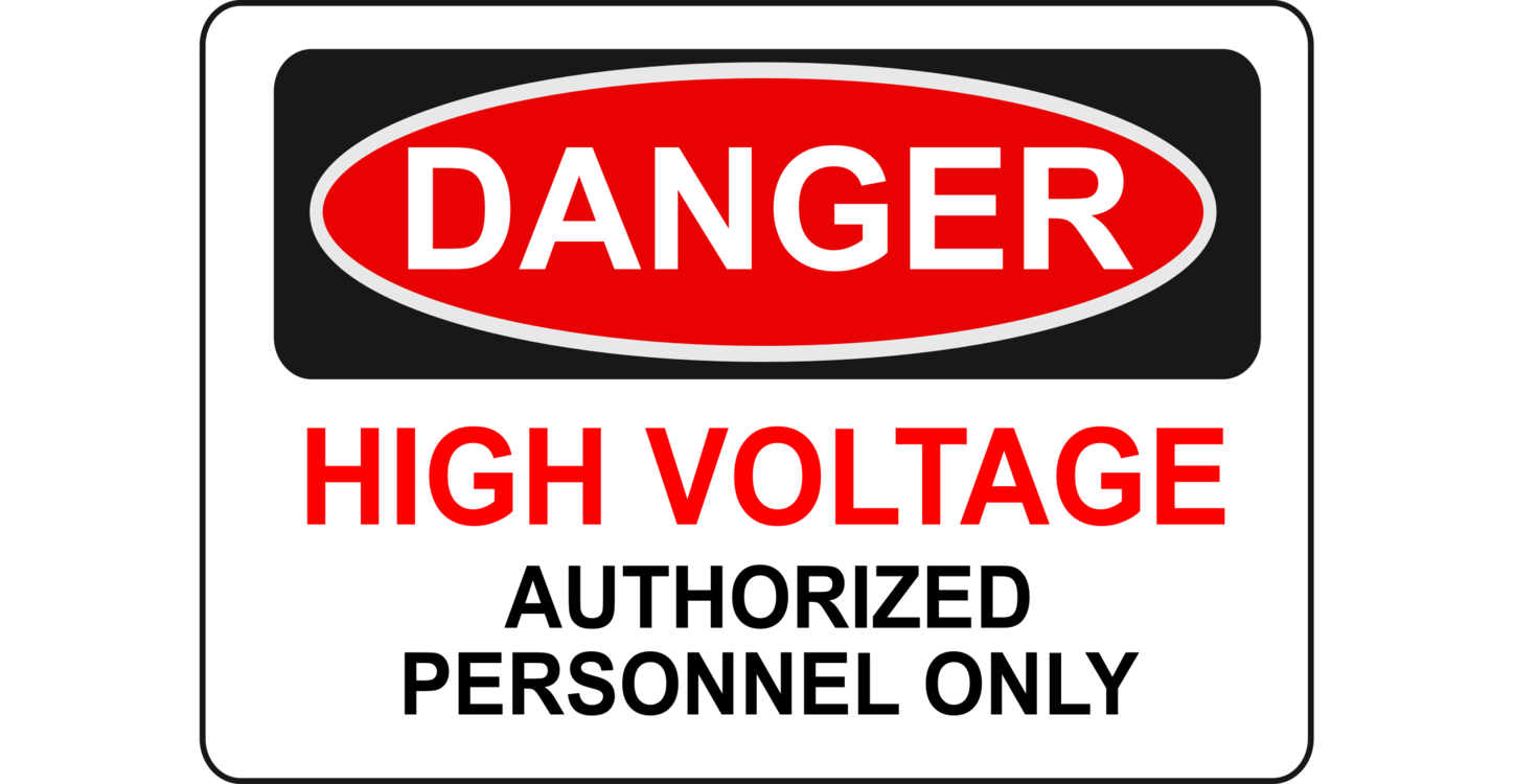 Signs vector authorised personnel only. Danger high voltage authorized
