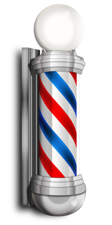 Barbershop vector haircut. Free barber shop pole