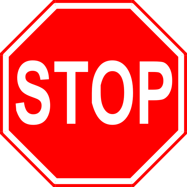 Signs vector clipart free. Stop sign clip art