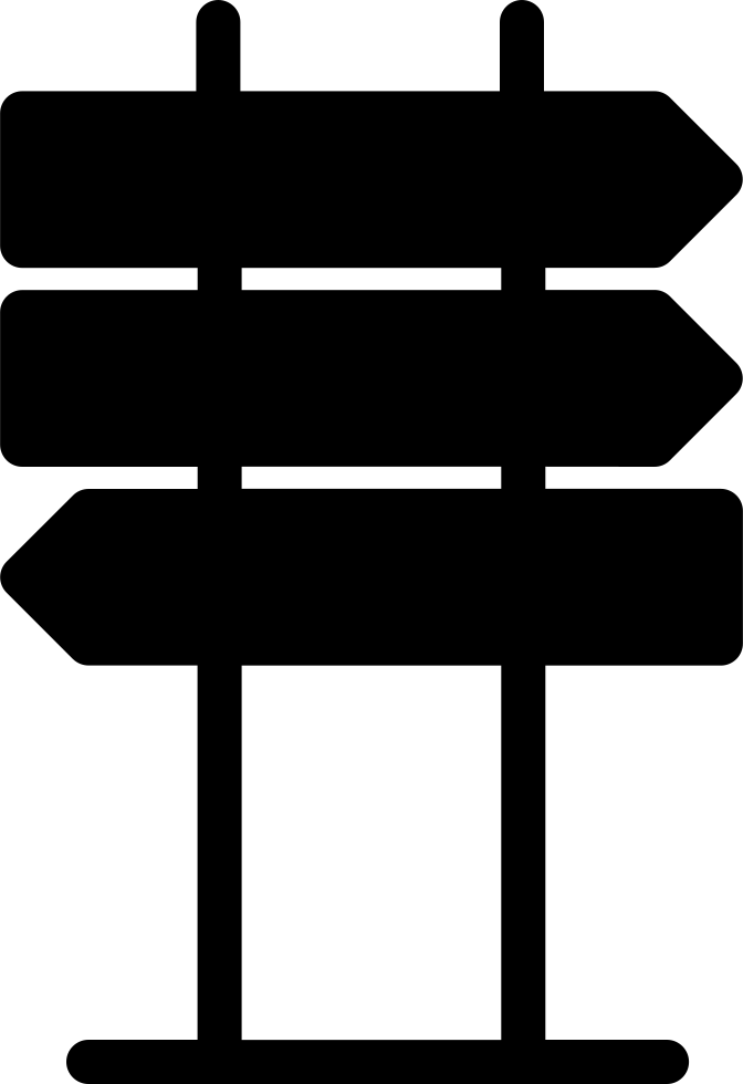 Clip stand directional. Arrow signs svg png