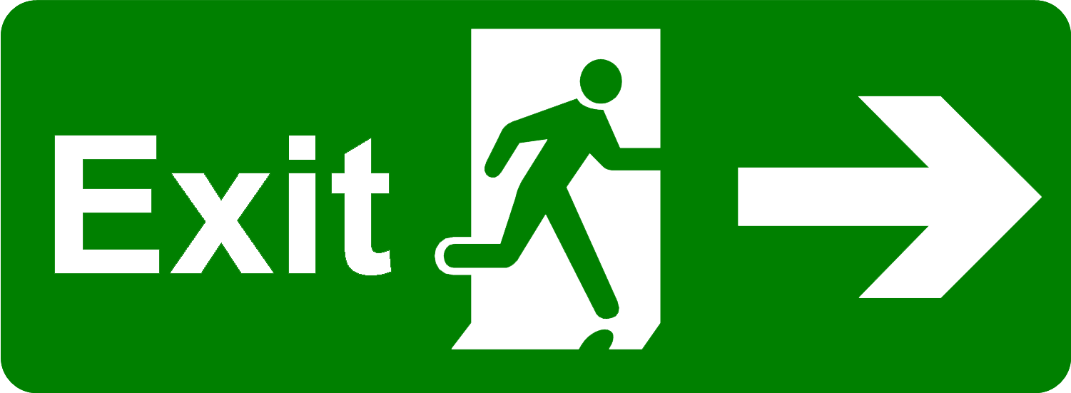 Signs vector fire exit. Png images free download