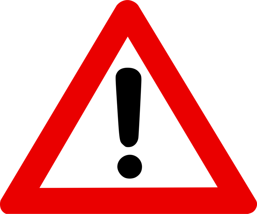 Signs vector hazard warning. Sign risk traffic free