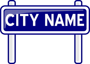 Signs vector signpost. City name plate road