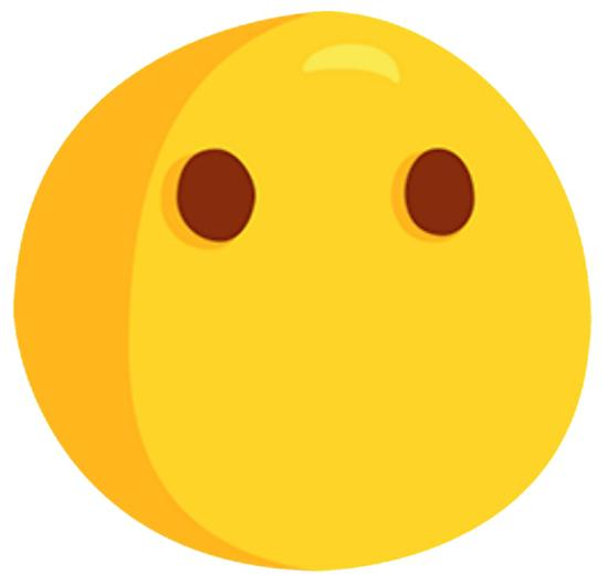 Silent clipart emoji. Mouthless face photographic prints