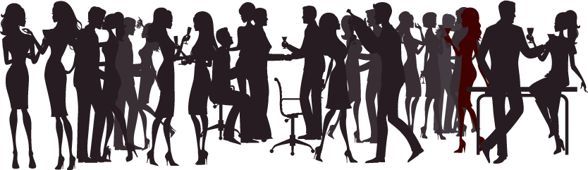 Silhouette bar png. Image