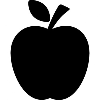 Silhouette clipart apple. Vectors photos and psd