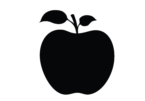 Silhouette clipart apple. Tree at getdrawings com