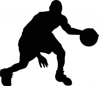 silhouette clipart basketball player