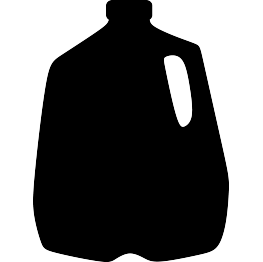 Silhouette clipart food. Silhouettes page milk jug