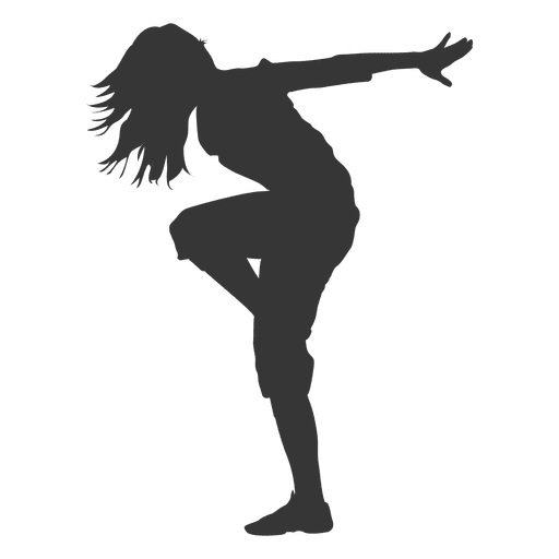 Silhouette png dance. Female break dancer transparent