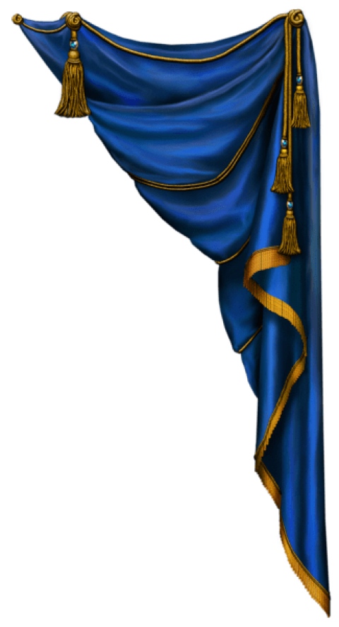 Download transparent blue clipart. Silk curtain png banner library library