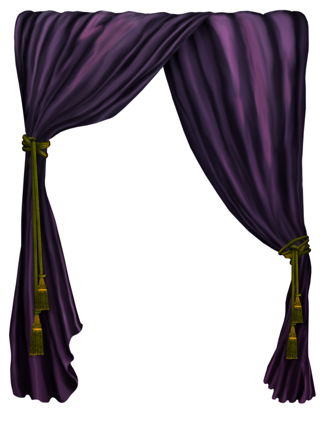 Silk curtain png. Purple decor clipart picture