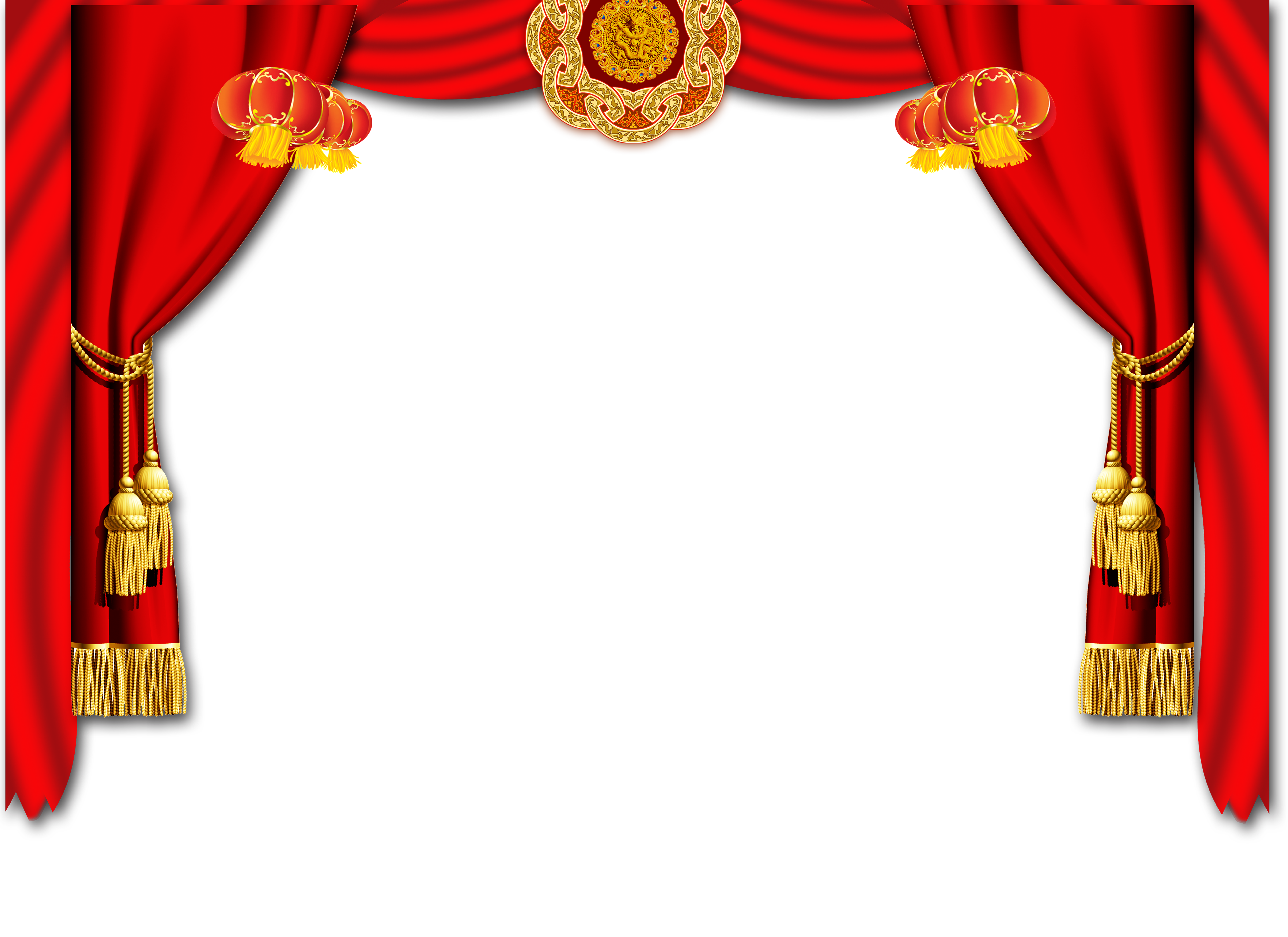 China chinese new year. Silk curtain png picture royalty free stock