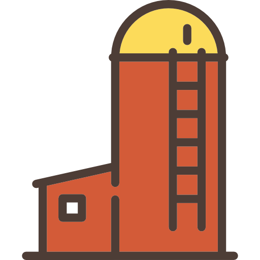 Silo vector icon. Icons free download demo