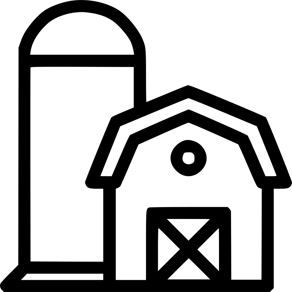 Silo vector icon. Barn storage house svg