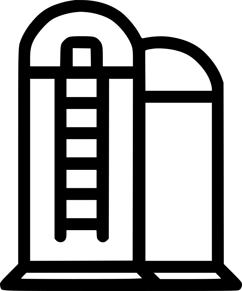 Silo vector icon. Barn agriculture svg png