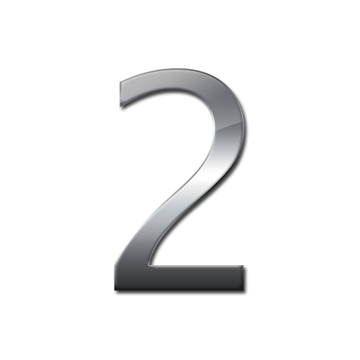 Silver 2 png. Number two download icons